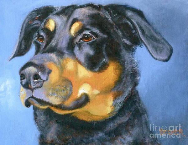 Painting - Rescue In Blue by Susan A Becker