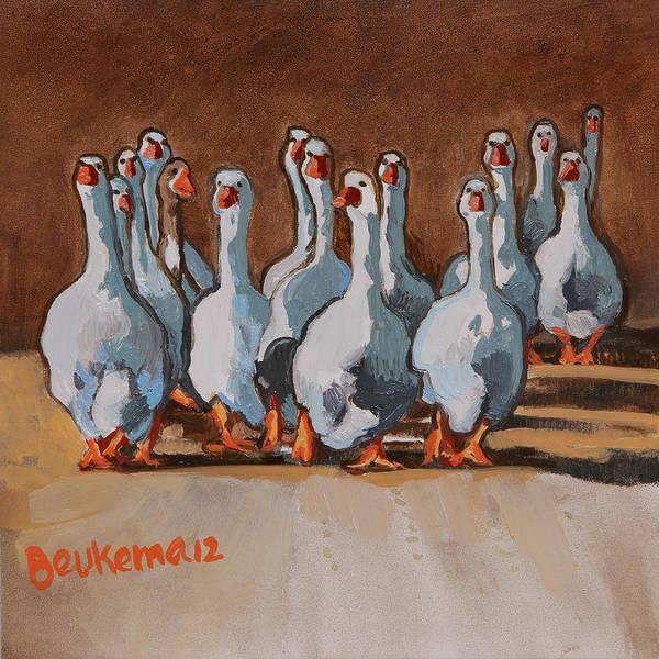 Reservoir Dogs Painting - Reservoir Geese by Debbie Beukema