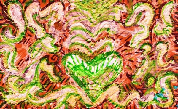 Lid Painting - Resonating Heart by Anne-Elizabeth Whiteway