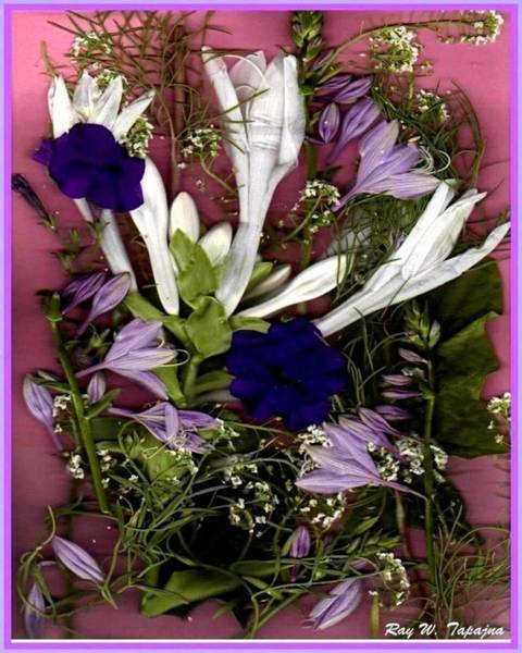 Mixed Media - Restful Flowers For You by Ray Tapajna
