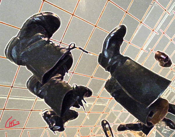 Photograph - Resting Boots Upside Down  by Colette V Hera  Guggenheim