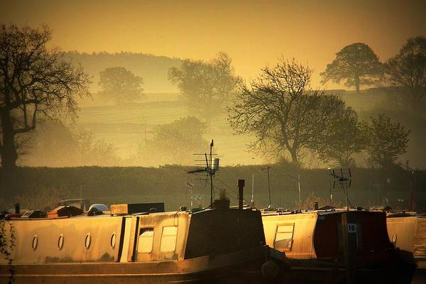 Warwickshire Photograph - Resting Narrowboats by Linsey Williams