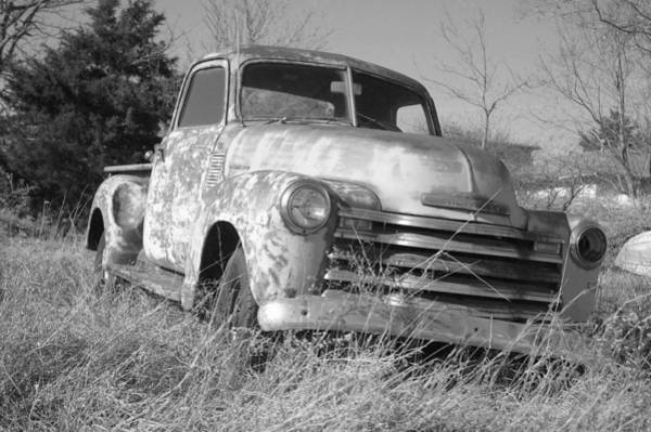 Old Chevy Truck Drawing - Retired by Steve Cost