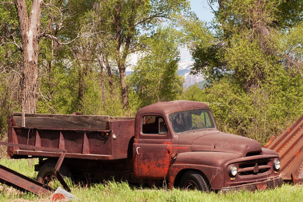 Dump Truck Photograph - Retired With Dignity by Daniel Hebard