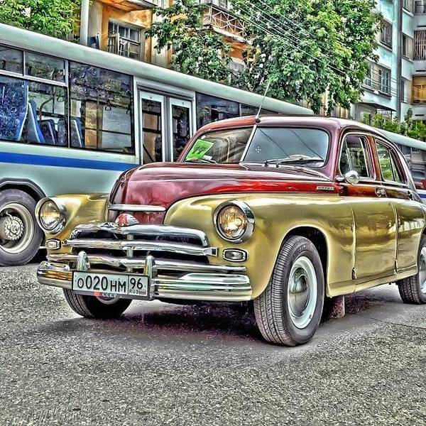 Vehicle Photograph - Retro Car #cars #car #ride #drive #foto by Igor Che 💎