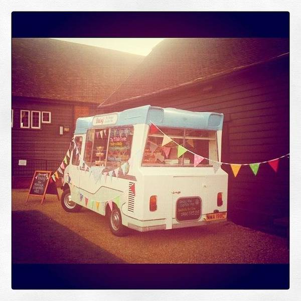 Transport Photograph - Retro Ice Cream  by Alison Williams