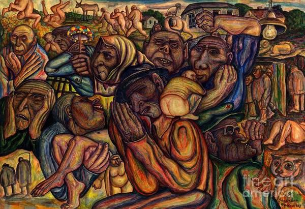 Poor Wall Art - Painting - Revolt Of The Poor by Vladimir Feoktistov