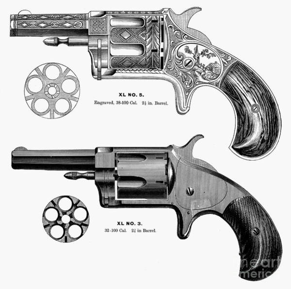 Photograph - Revolvers, 19th Century by Granger