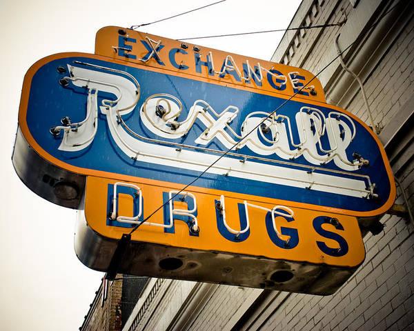 Stockyards Photograph - Rexall Drugs by David Waldo