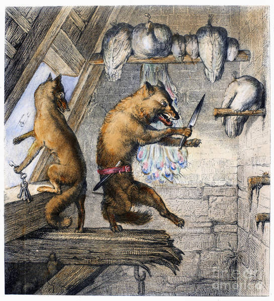 Reynard Wall Art - Photograph - Reynard The Fox, 1846 by Granger