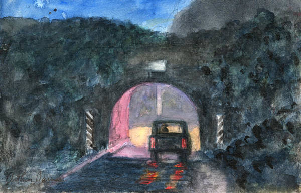 Ashes Painting - Rez Culvert Nocturne by Arthur Barnes