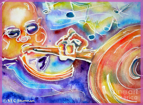 Trumpet Mixed Media - Rhapsody Blues by M c Sturman