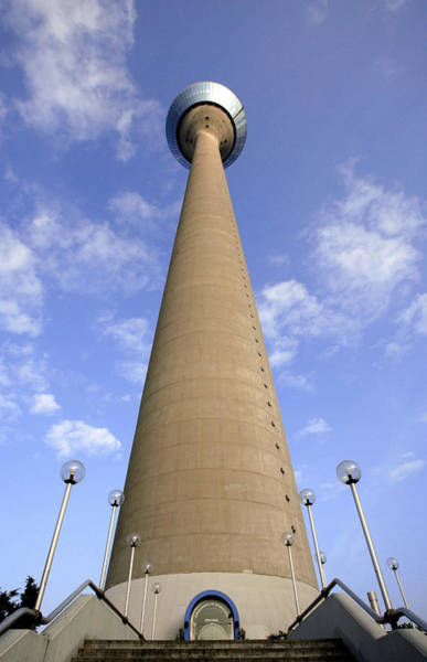 Rhine Tower, Dusseldorf, Germany Art Print