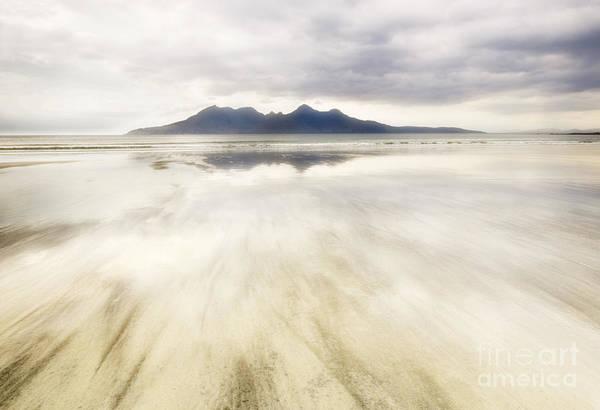 Foreshore Photograph - Rhum From Laig Bay by Janet Burdon