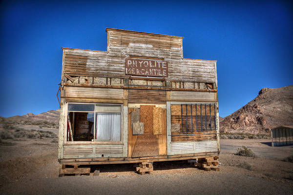 Death Valley Photograph - Rhyolite Mercatile by Peter Tellone