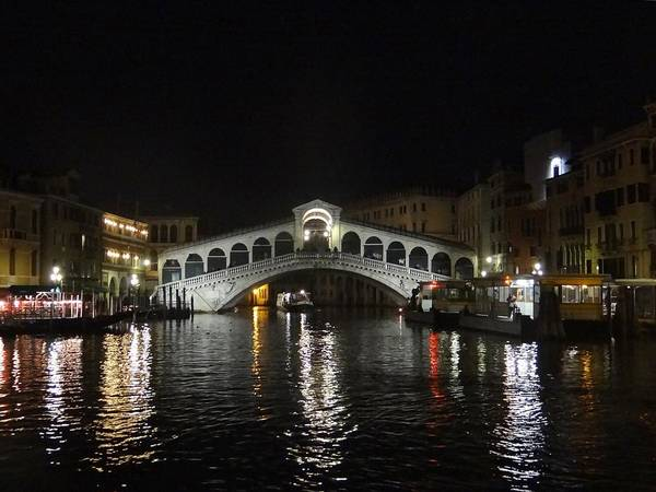 Photograph - Rialto Bridge At Night by Keith Stokes