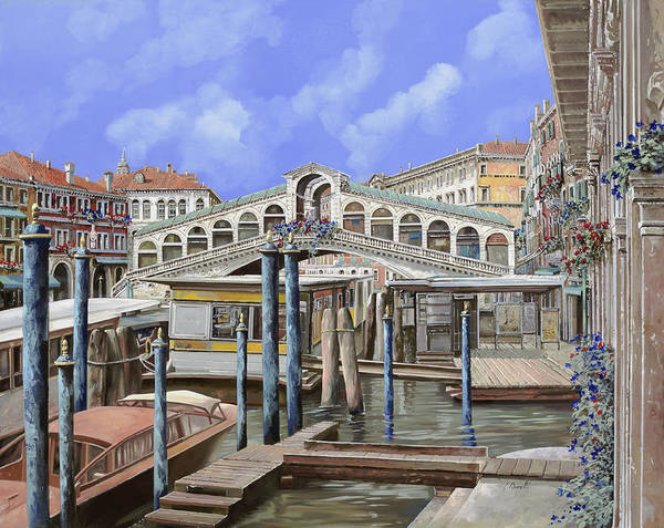 Wall Art - Painting - Rialto Dal Lato Opposto by Guido Borelli