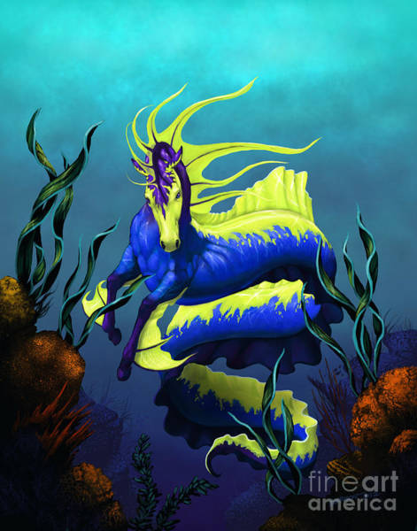 Sealife Wall Art - Digital Art - Ribbon Hippocampus by Stanley Morrison