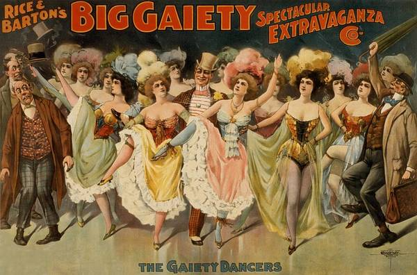 Burlesque Dancer Photograph - Rice And Bartons Big Gaiety Spectacular by Everett