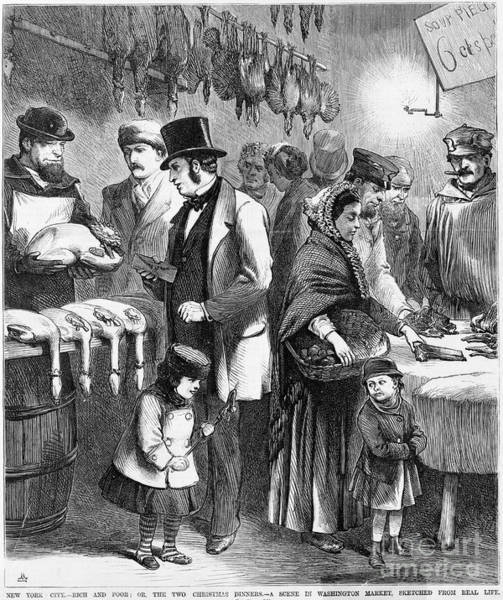 Duck Meat Photograph - Rich And Poor, 1873 by Granger