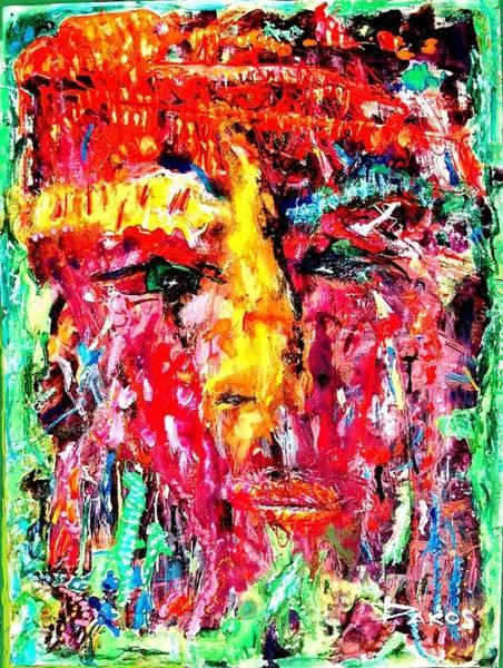 Sax Painting - Richard Gere by Darlyne Sax