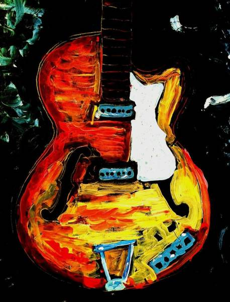 Painting - Rick Estrin And The Nightcats by Neal Barbosa