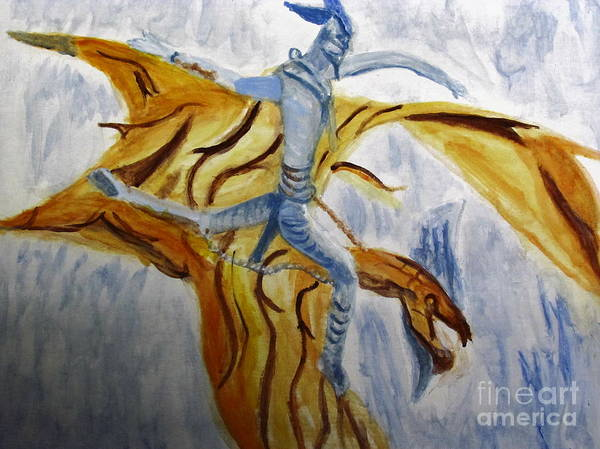 Painting - Ride Toruk The Dragon From Avatar by Stanley Morganstein