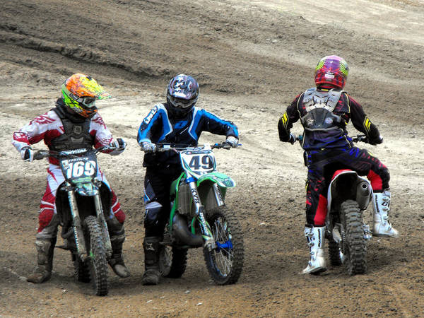 Dirtbike Photograph - Riders Ready by Darrell Moseley