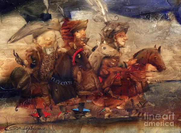 Wall Art - Painting - Riders by Svetlana and Sabir Gadghievs