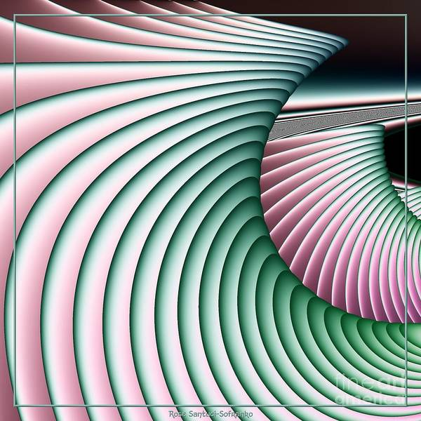 Bodyboard Wall Art - Digital Art - Riding The Pastel Waves Fractal 131 by Rose Santuci-Sofranko
