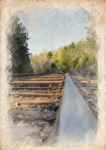 Gravel Road Photograph - Riding The Rail II by Ricky Barnard