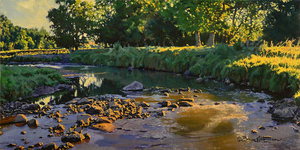 Painting - Riffles - First Light by Bruce Morrison