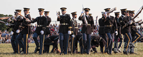 Photograph - Rifle Display By The Old Guard At The Twilight Tattoo In Washington Dc by William Kuta