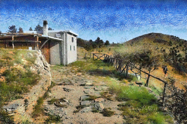Painting - Rifugio Naturalistico Del Cai - Cai Bird Watching House by Enrico Pelos