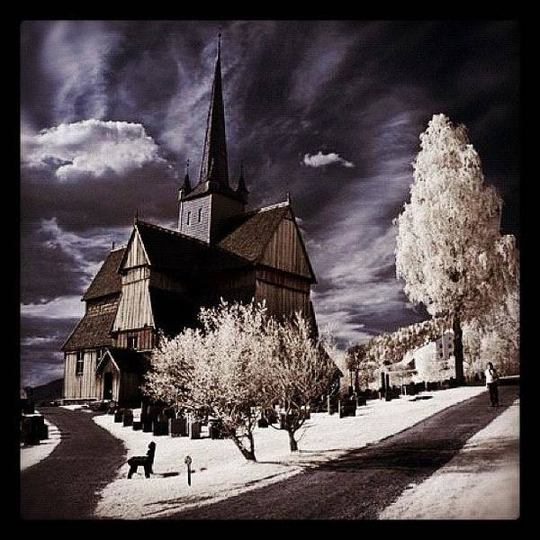 Surrealism Photograph - Ringebu, Norway. Stave Church. Taken by Magda Nowacka