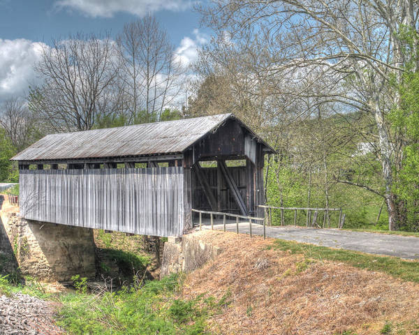 Photograph - Ringo's Mill Covered Bridge by Harold Rau