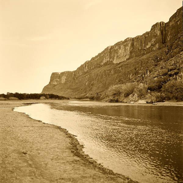 Photograph - Rio Grand Big Bend Monochrome by M K Miller