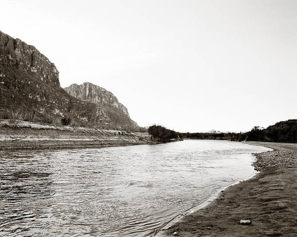 Photograph - Rio Grand Big Bend  Park Monochrome by M K Miller