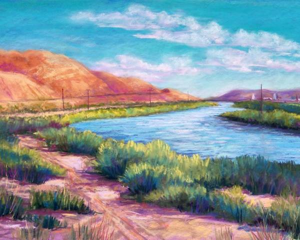 El Paso Wall Art - Pastel - Rio Grande From The South by Candy Mayer