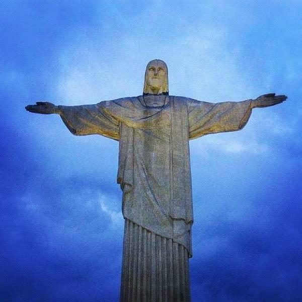 Wall Art - Photograph - #rio #riodejaneiro #jesus #statue by Alon Ben Levy