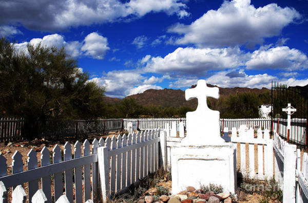 Grave Yard Photograph - R.i.p. In Old Tuscon Az by Susanne Van Hulst
