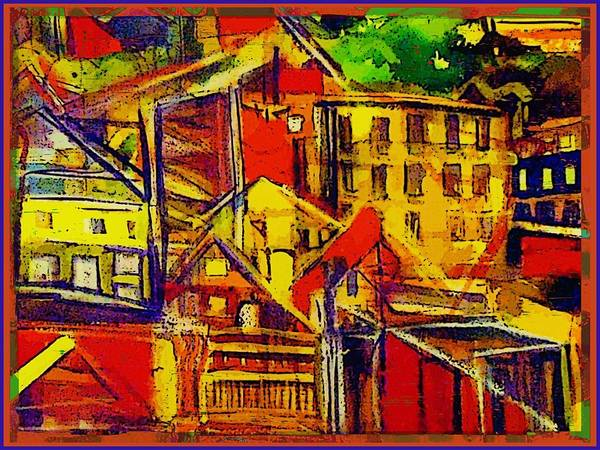 Wall Art - Painting - River City by Mindy Newman