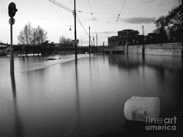 Photograph - River In Street by Odon Czintos