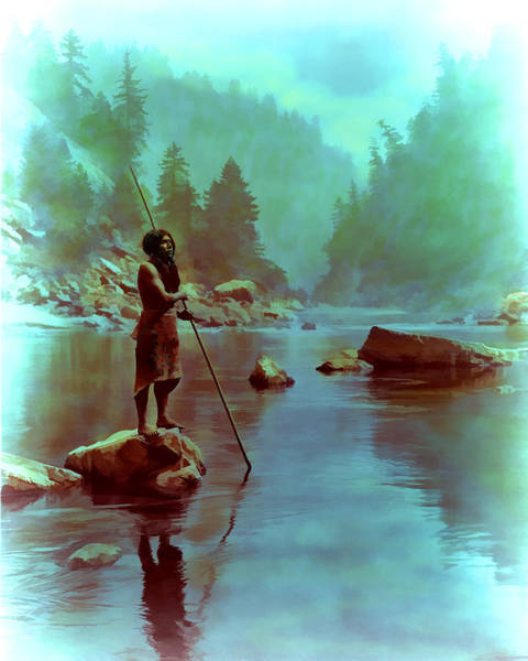 Digital Art - River Of Tranquility by Rick Wicker