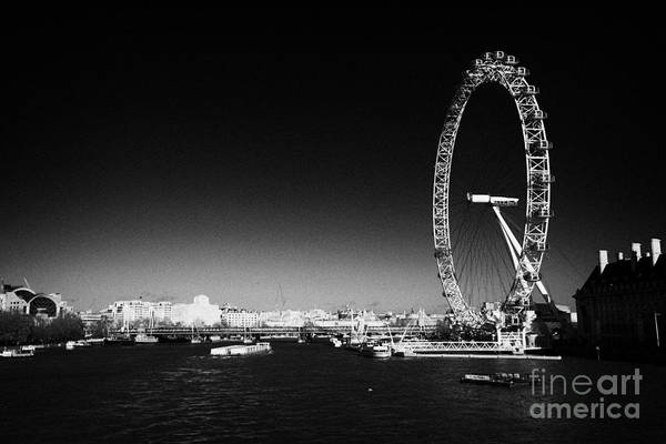 Southbank Photograph - river thames and london eye seen from westminster bridge southbank London England UK by Joe Fox