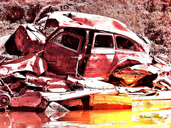 Digital Art - River Wreck Ver2 by Susan Kinney