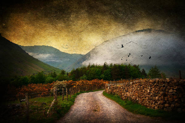 Lake District Digital Art - Road By The Lake by Svetlana Sewell
