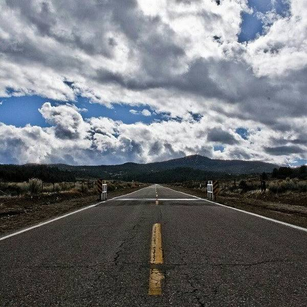 Wall Art - Photograph - #road #clouds #cloudy #weather by Michael Amos