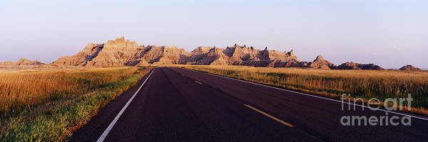 North Dakota Badlands Wall Art - Photograph - Road In Badlands National Park by Jeremy Woodhouse