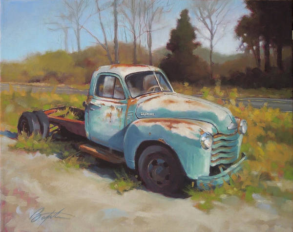 Old Chevy Truck Painting - Roadside Relic by Todd Baxter